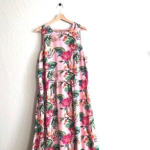 J. Jill pink sleeveless floral maxi dress size XL